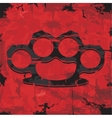 Brass knuckles design Apparel print vector image
