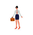 business woman wearing working outfit standing vector image vector image