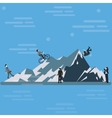 businessman climbing mountain hill up tothe top vector image