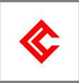 c letter logo initials c logo vector image