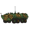 Camouflage troop carrier vector image vector image