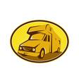 Camper Van Mobile Home Retro vector image vector image