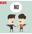 Cartoon business man disgreement - - EPS10 vector image