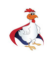 chicken superhero vector image vector image