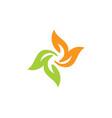 Circle colored leaf floral logo