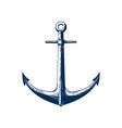 classic marine anchor vector image