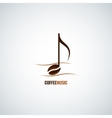 coffee bean concept music background vector image
