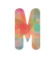 Colorful alphabet M vector image