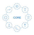 core icons vector image vector image