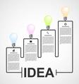 Creative 3D light bulb infographics design vector image