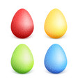 eastercolorful easter eggs with different colors vector image vector image