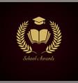 educational wreath logo vector image