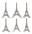 eiffel tower set vector image vector image