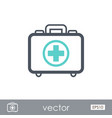 first aid kit outline icon summer vacation vector image