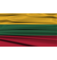 Flag of Lithuania with old texture vector image vector image