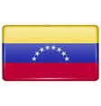Flags Venezuela in the form of a magnet on vector image vector image