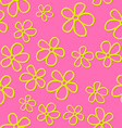 Flat cute flowers with shadow vector image vector image