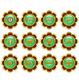 flower media buttons vector image vector image