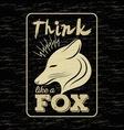 fox vintage vector image