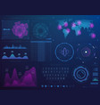 futuristic hud interface science future tech vector image vector image