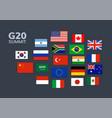 g20 country flag mexico usa canada vector image vector image