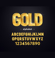 golden alphabet set of gold letters and vector image