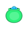 Green witch cauldron with potion icon vector image vector image