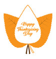 group of autumn leaves thanksgiving day vector image vector image