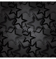 Grunge rock star background brush smear stars vector image vector image