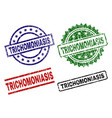 grunge textured trichomoniasis seal stamps vector image vector image