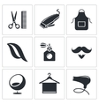 Hair salon icon set vector image vector image
