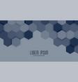 hexagonal business style presentation background vector image