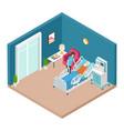 hospital ward resuscitation interior vector image vector image
