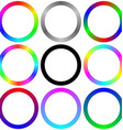 Isolated gradient rainbow circle color palette set vector image vector image