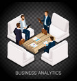 isometric business concept vector image vector image