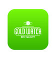 jewelry watch icon green vector image vector image