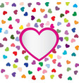 love heart frame background romantic holiday vector image