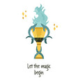 magic goblet fire vector image