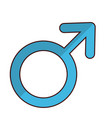 male gender icon vector image vector image
