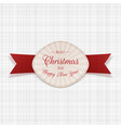 merry christmas greeting emblem vector image vector image