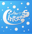 merry christmas wording template vector image vector image