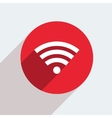 mosern flat wifi circle icon vector image