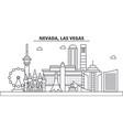 nevada las vegas architecture line skyline vector image vector image