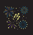 night firework decoration to holiday event vector image vector image