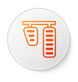 orange line car gas and brake pedals icon isolated vector image vector image