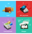 Payment Realistic Set vector image