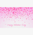 pink pattern of random falling hearts confetti vector image