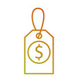 price tag business money commerce icon vector image vector image