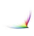 rainbow shape vector image vector image