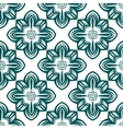 Retro green flowers seamless pattern vector image